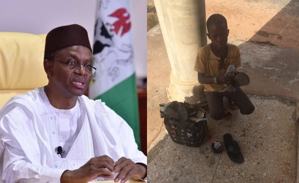 Governor El-Rufai pledges to sponsor the education of Almajiri boy who doesn't like to beg from primary school till University