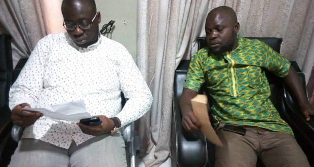 CONDOLENCE VISIT!!! Hon. Emmanuel Boniface consoles, with Emmanuel Ekpenyong