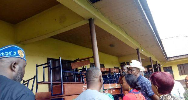 Methodist Primary School gets School desks from Rotary Club of Uyo Metropolis