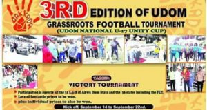 3rd Edition Of Udom Victory tournament to kick off Sept 14.