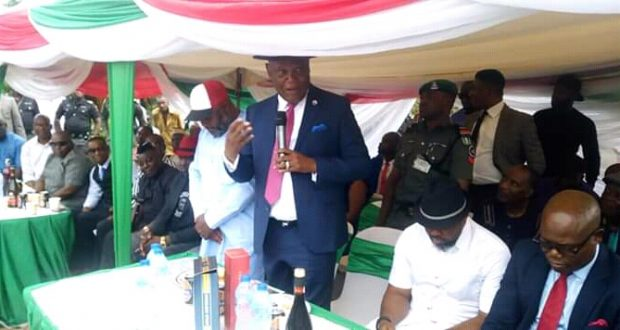 Gov Udom Commends Uyo Vc On Philanthropic Gesture As He Unveiled Civic Center And One Bedroom Bungalow For A Widow.