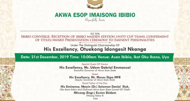 Idongesit Nkanga Reiterates Commitment to Ibibio Projects…Sets to Chair Ibibio converge, Dec. 21