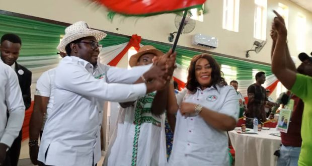 Dr. Udo receives PDP flag as Uyo Chairmanship Candidate