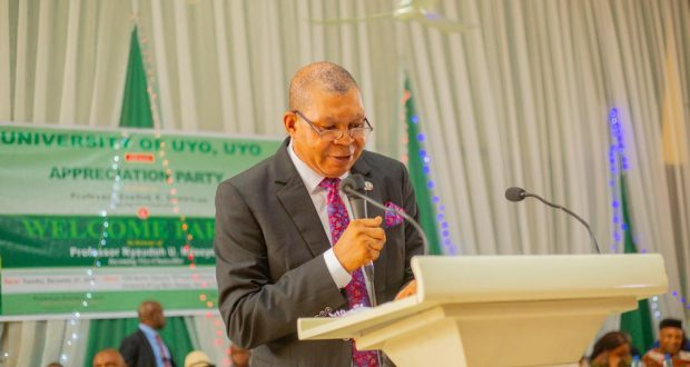 Professor Nyaudoh Ndaeyo Takes Over As 8th Substantive Vice Chancellor Of UNIUYO