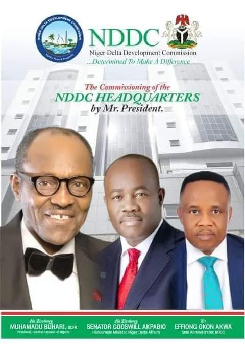 STATE OF THE NATION A LANDMARK DEVELOPMENT, PRESIDENT BUHARI COMMISSIONS NDDC BUILDING 25 YEARS AFTER