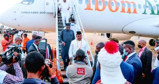 GOV EMMANUEL ASSURES OF TEN NEW AIRCRAFT, AS IBOM AIR WELCOMES TWO NEW AIRBUSES